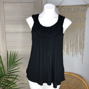 Tea Party |Anthro Boho Ruched Neck Tank Top SZXS